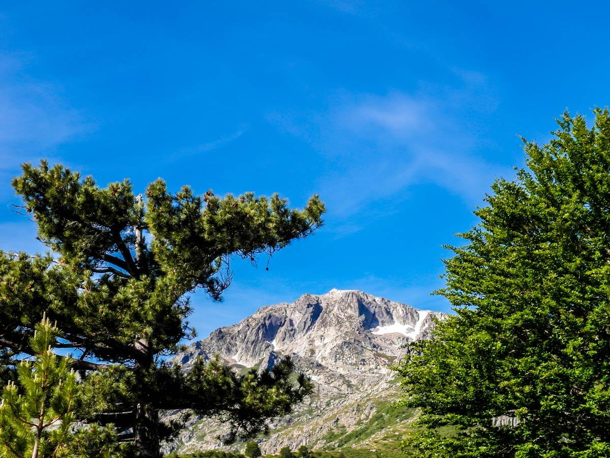 Views around Vizzavona on GR20 South Trek in Corsica Island