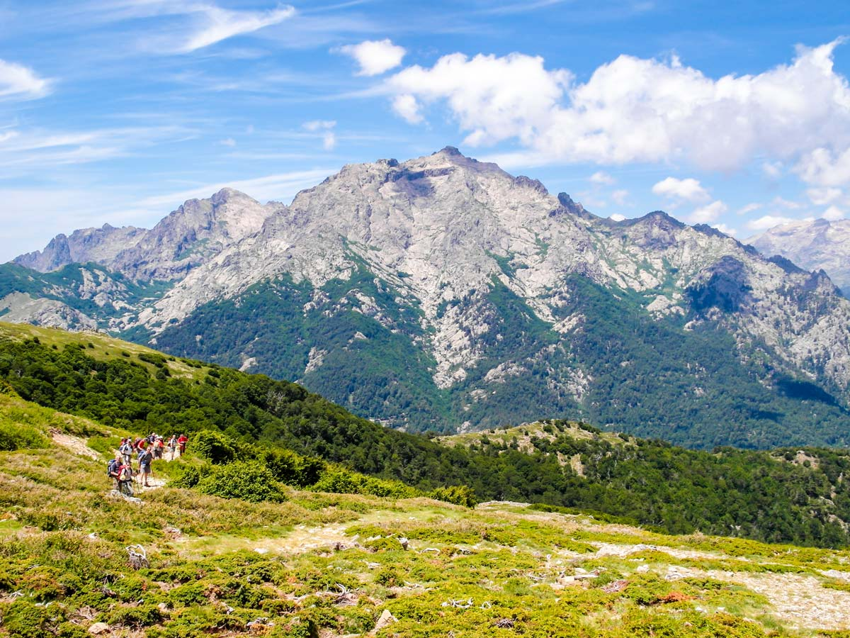 Capanelle Vizzavona GR20 South Trek in Corsica Island has beautiful views of Bocca Palmente