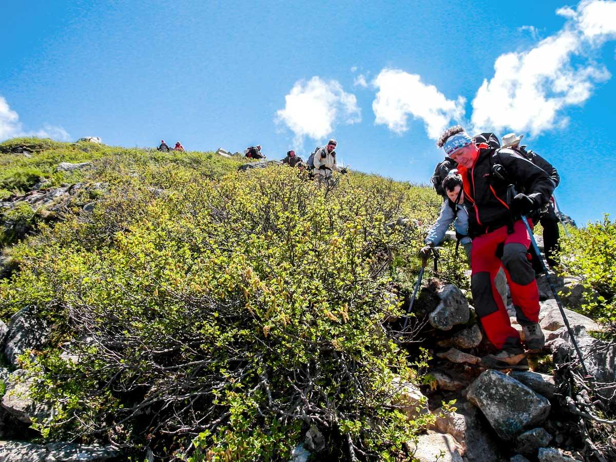 Descending between Bocca di Verde and Cozzano on GR20 South Trek in Corsica