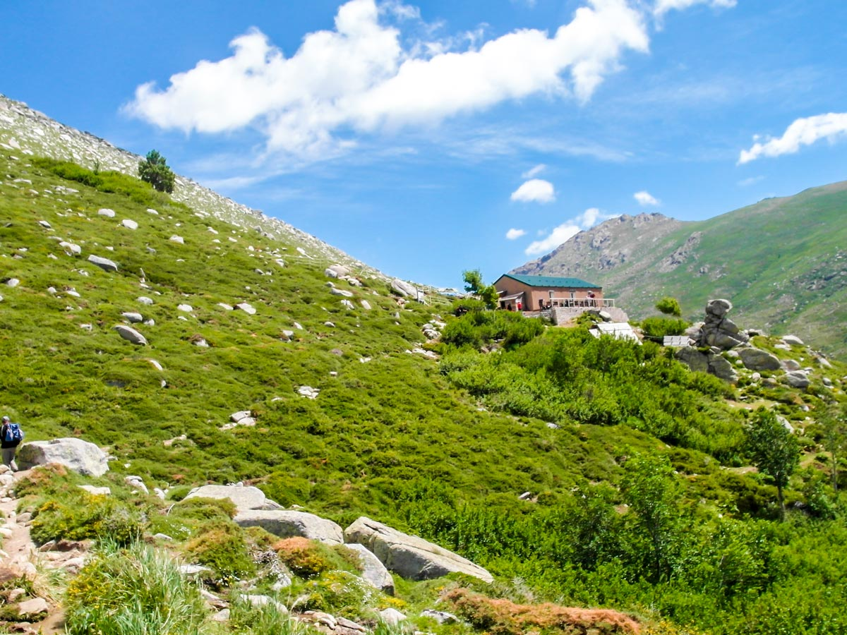 Beautiful views between Bassetta and Bacella on 6th day of GR20 South Trek in Corsica France