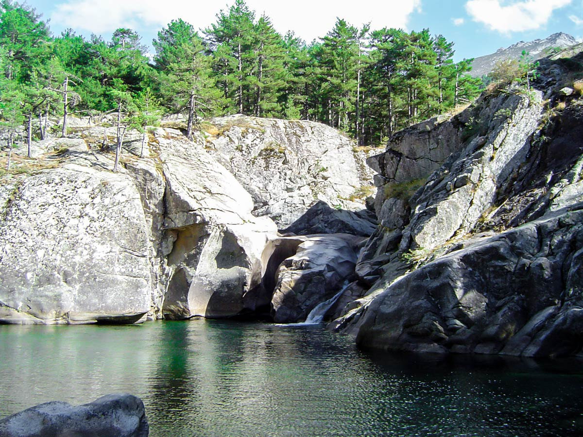 There are several beautiful waterfalls along Mare a Mare North trek in Corsica Island