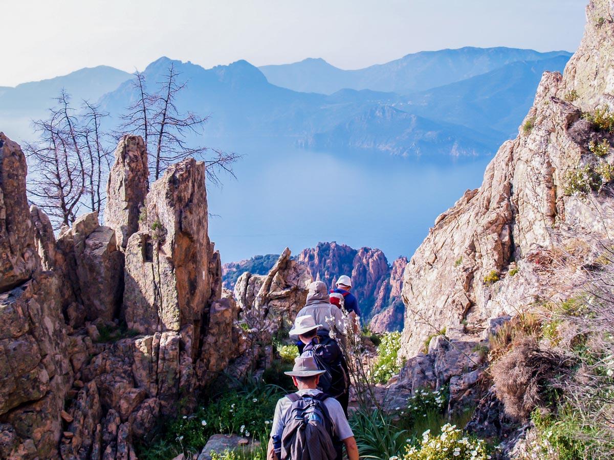 Mare a Mare North trek in Corsica Island includes hiking near Calanche de Piana