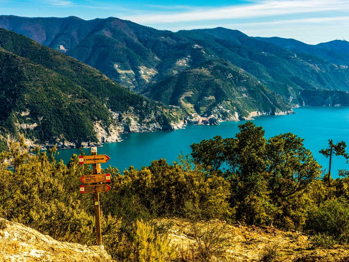 Sestri Levante to Porto Venere trek in Cinque Terre rewards with some of the best views of the Italian Coast