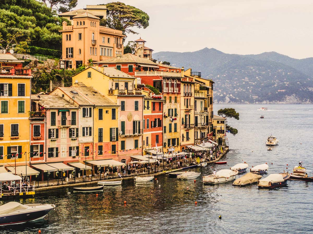Portofino views on self guided trek between Portofino and Porto Venere in Cinque Terre