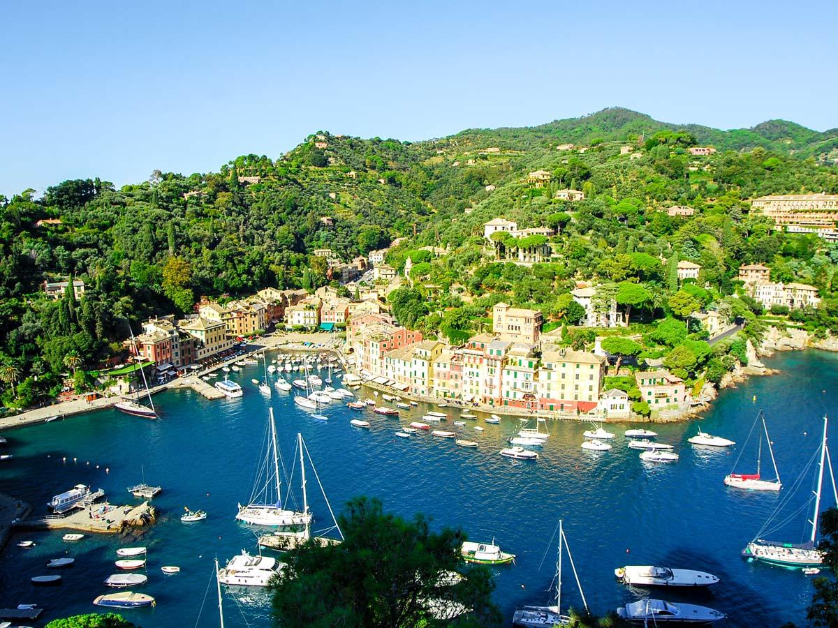 Harbour on self guided trek between Portofino and Porto Venere in Cinque Terre