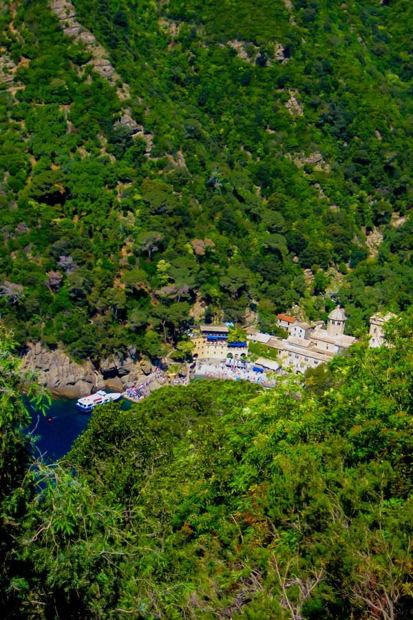 Hidden village on self guided trek between Portofino and Porto Venere in Cinque Terre