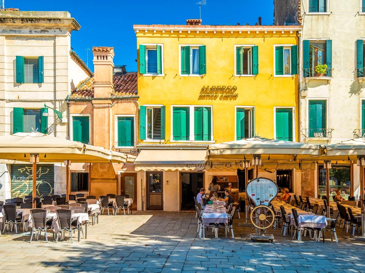 Santa Margherita Square on self guided trek between Portofino and Porto Venere in Cinque Terre Italy
