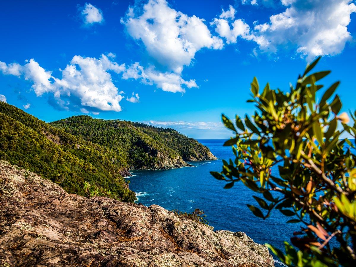 Coastal views on Sestri Levante to Porto Venere trek in Cinque Terre Italy