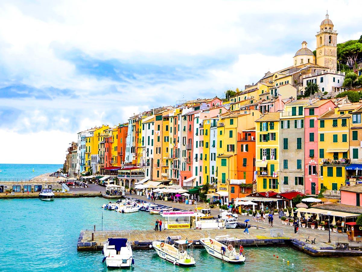 Beautiful Porto Venere on self guided trek from Sestri Levante to Porto Venere in Cinque Terre