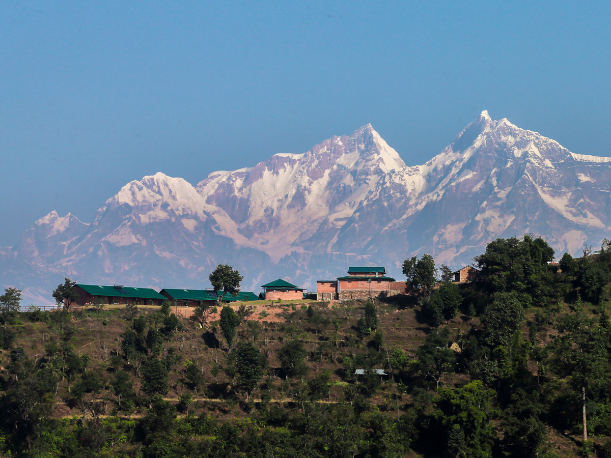 Three Mountain Lodge the Mountains on Annapurna Luxury Lodges Trek in Nepal