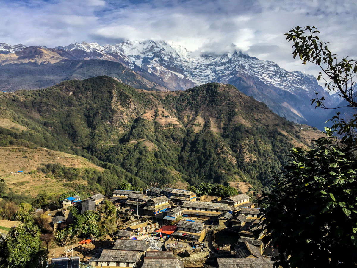 Ghandruk Village views on Annapurna Luxury Lodges Trek in Nepal