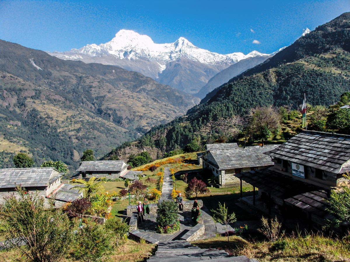 Gurung Lodge views on Annapurna Luxury Lodges Trek in Nepal