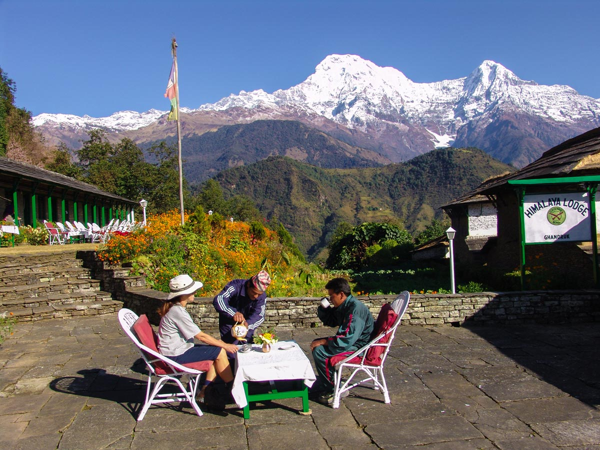 Resting time at Himalaya Lodge Ghandruk on Annapurna Luxury Lodges Trek in Nepal