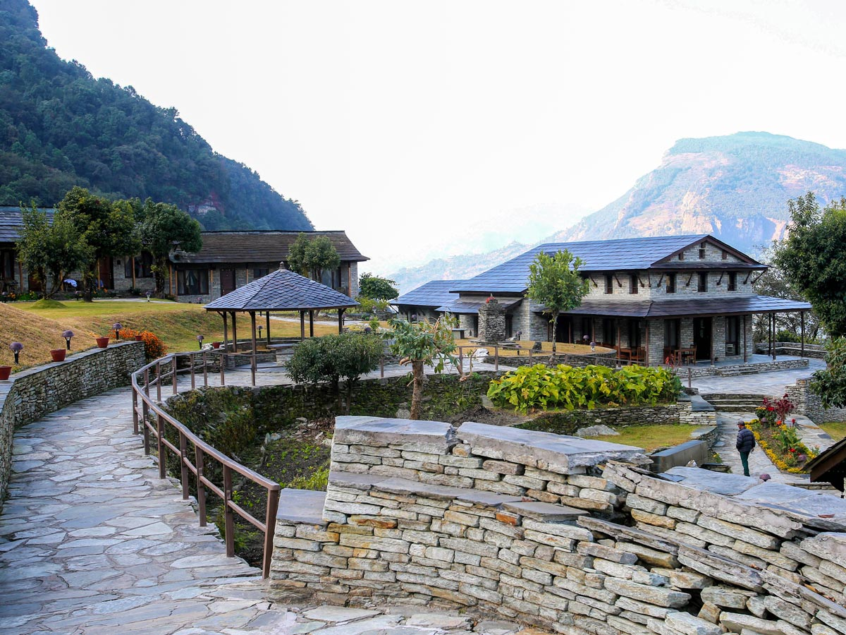 Views of Mala Lodge Majgaon on Annapurna Luxury Lodges Trek in Nepal