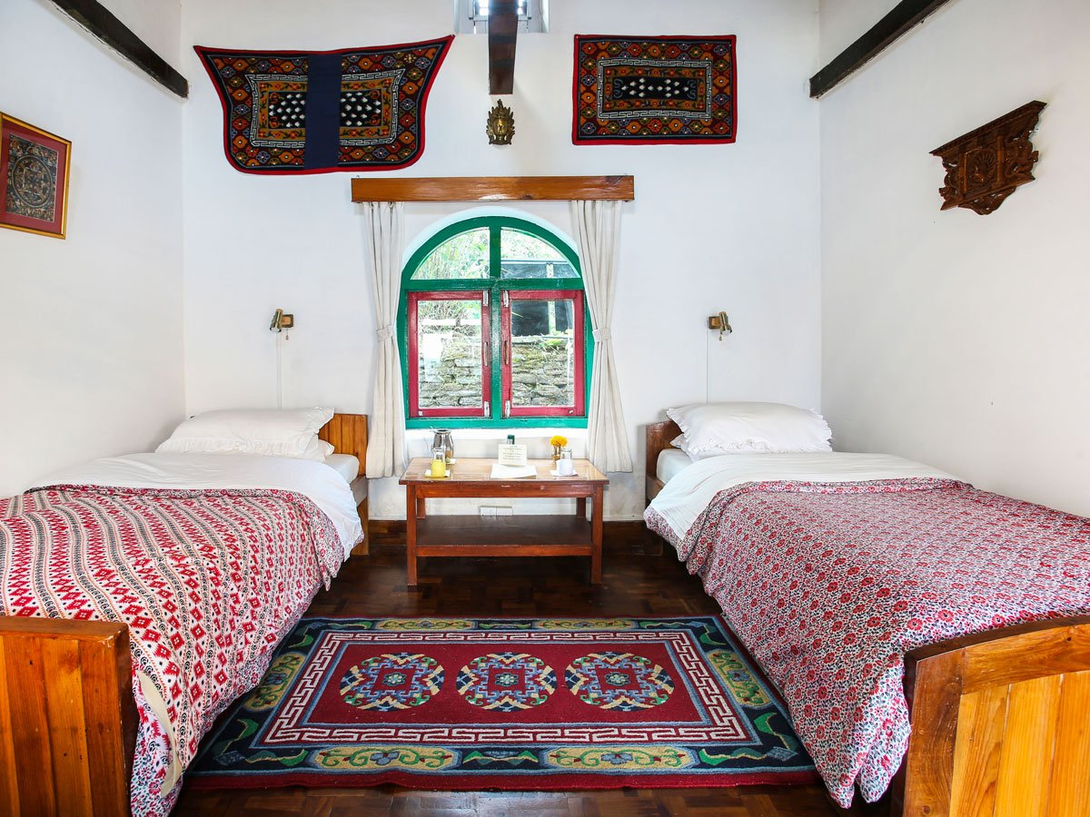 Room at Gurung Lodge Majgaon on Annapurna Luxury Lodges Trek in Nepal