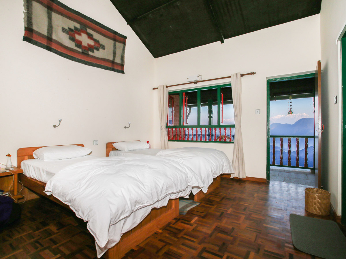 Room with moutain view at 3 Mountain Lodge on Annapurna Luxury Lodges Trek in Nepal