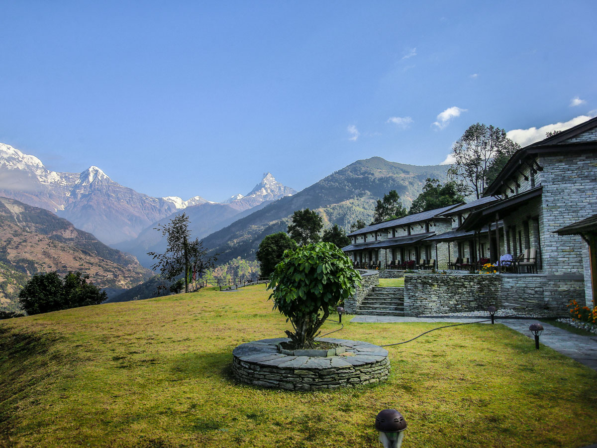 View from Mala Lodge Majgaon on Annapurna Luxury Lodges Trek in Nepal
