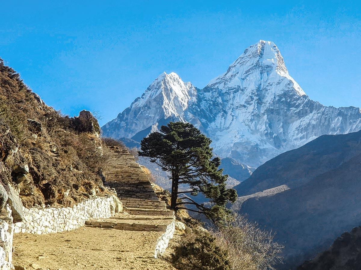 Stunning views of Everest on Everest Luxury Lodge Trek in Nepal