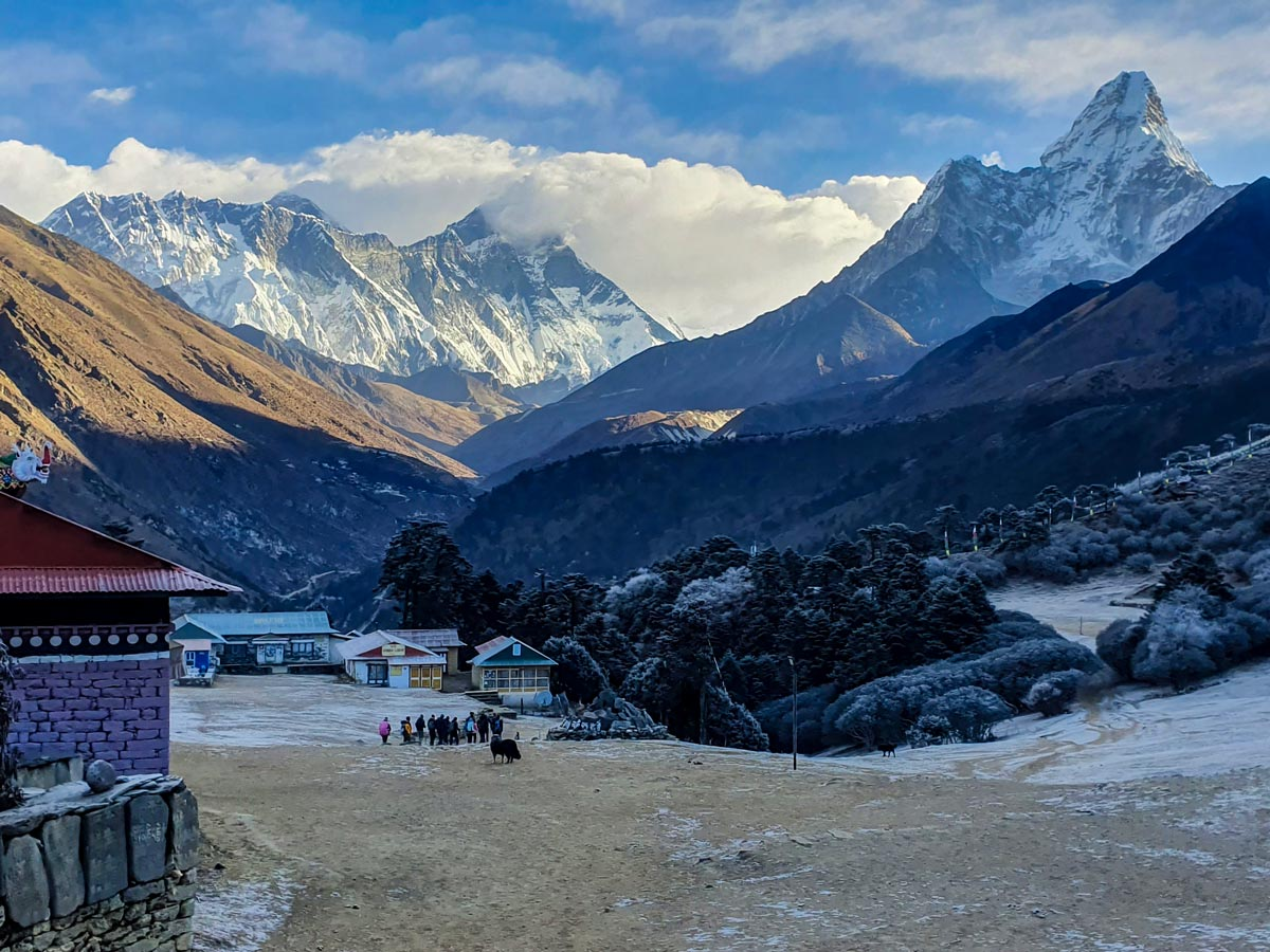 Cold morning on Everest Luxury Lodge Trek in Nepal