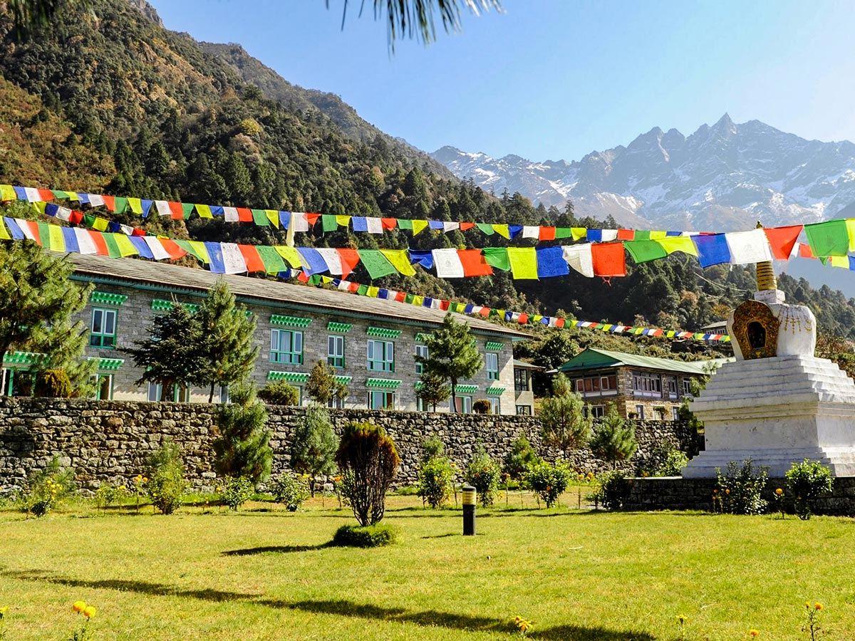 Prayer flags on Everest Luxury Lodge Trek in Nepal