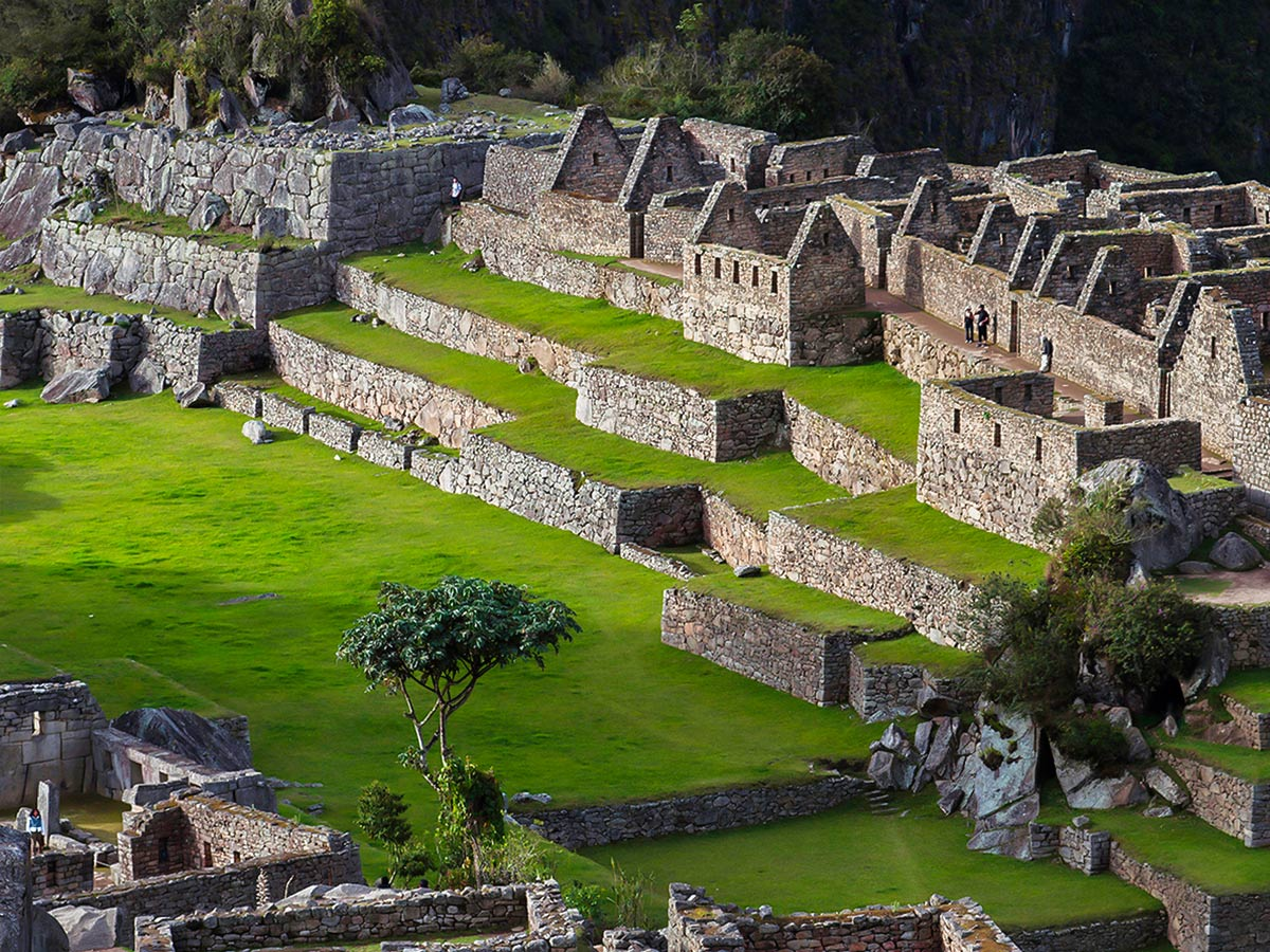 Incan archeological site seen on Peru Active Tour