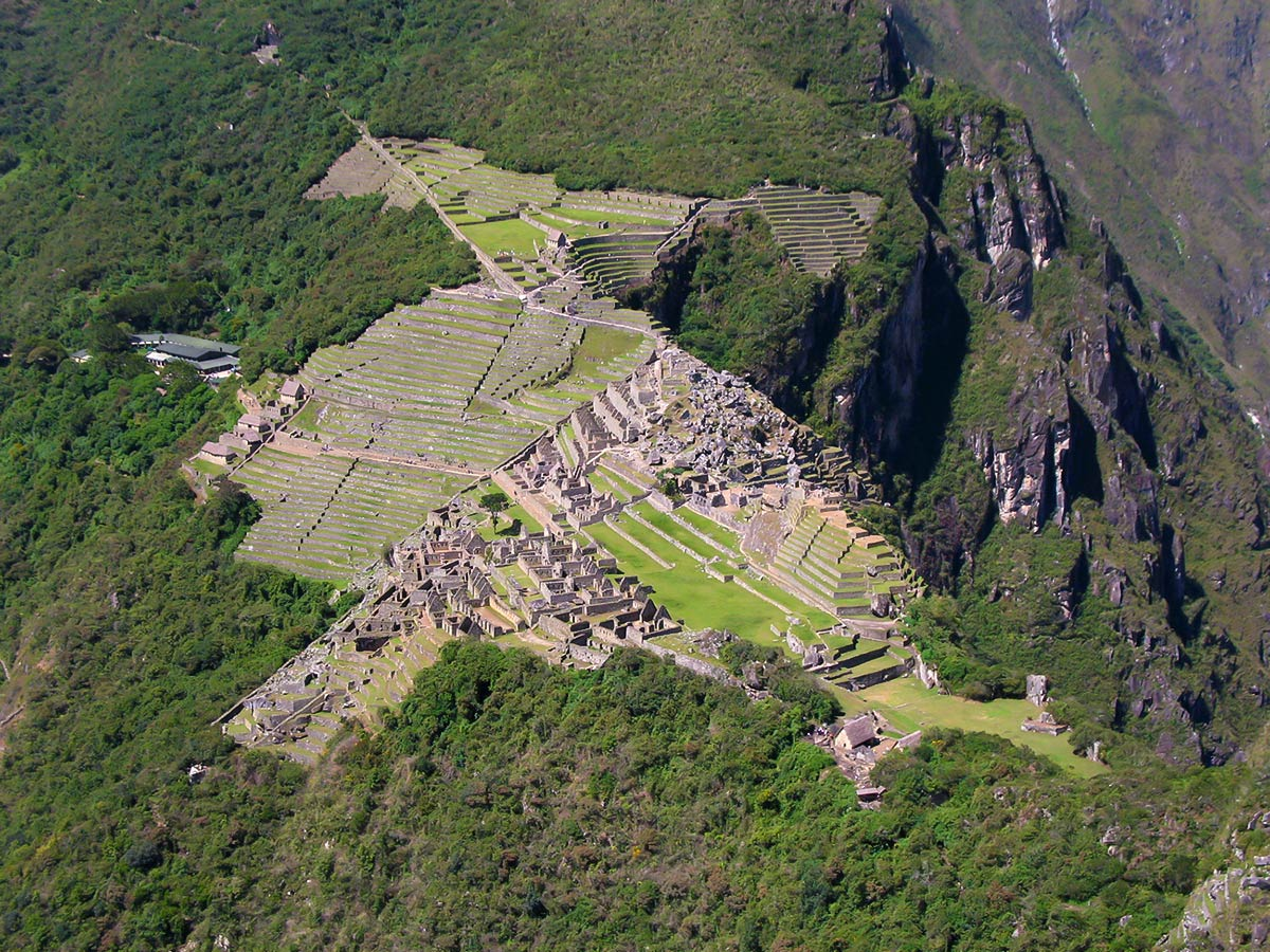 View from Huayna Piccu seen on Peru Active Tour