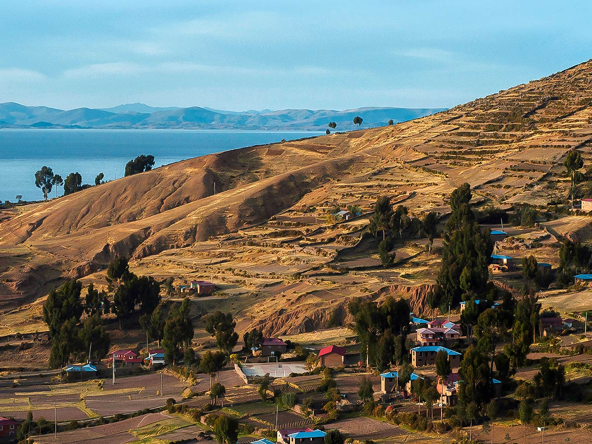 Terraced hill on Peru Active Tour