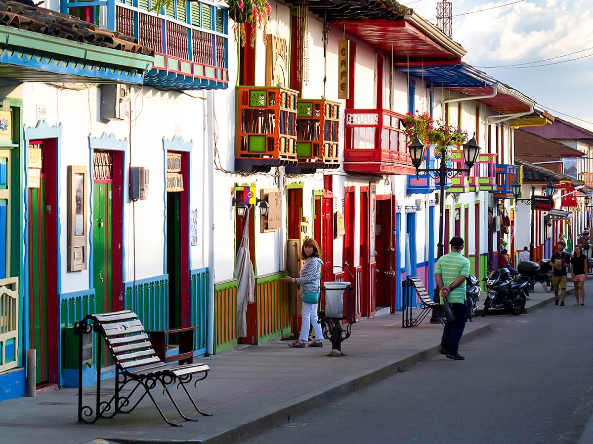 Cozy streets of Salento visited on Walking in Colombia Tour