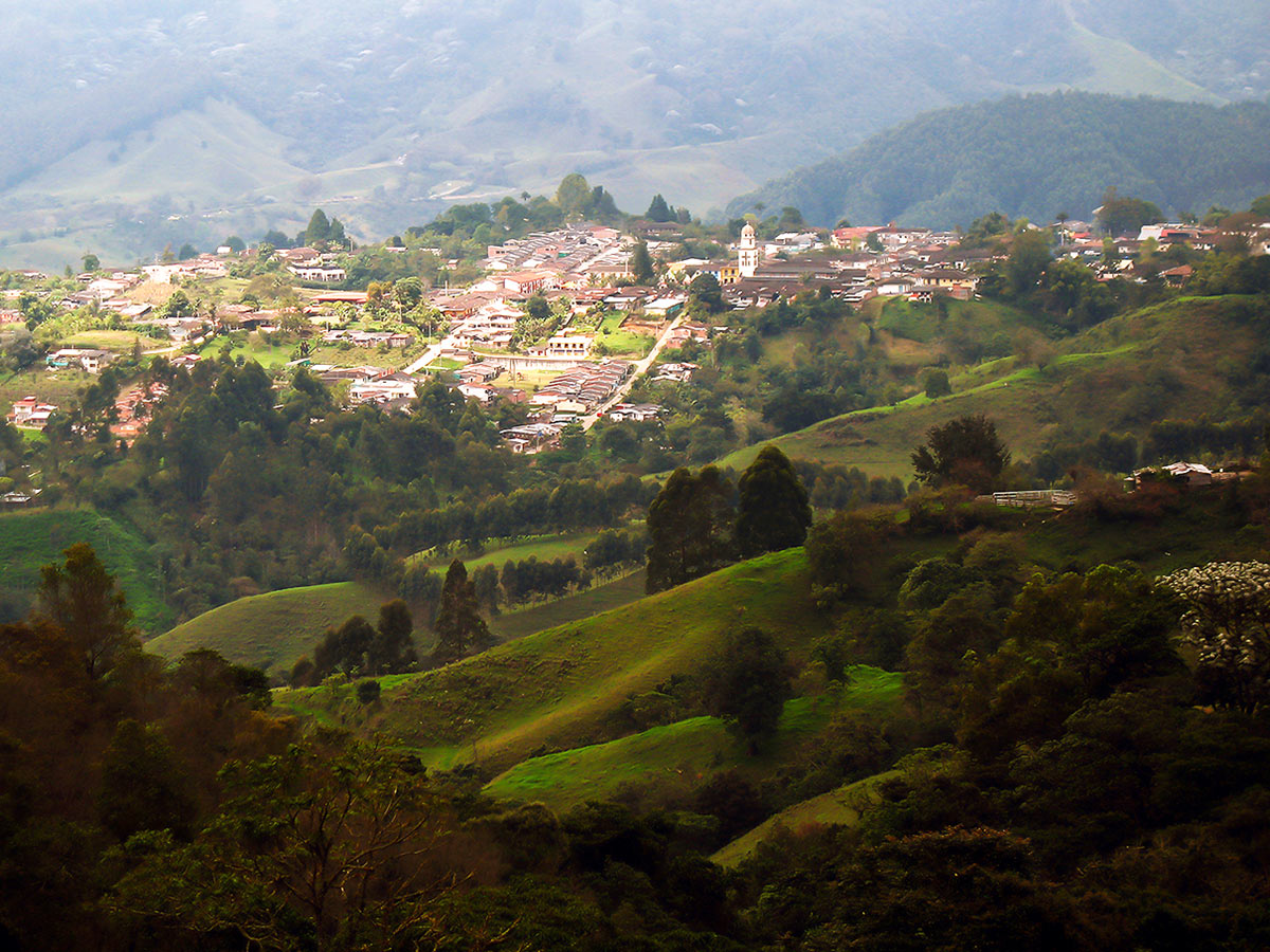 Andean village seen on Walking in Colombia Tour