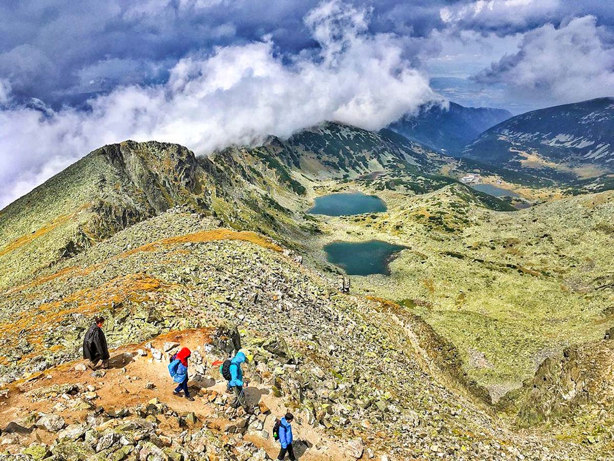 Views from Mount Musala on 2nd day of Grand Tour of Bulgaria Trek