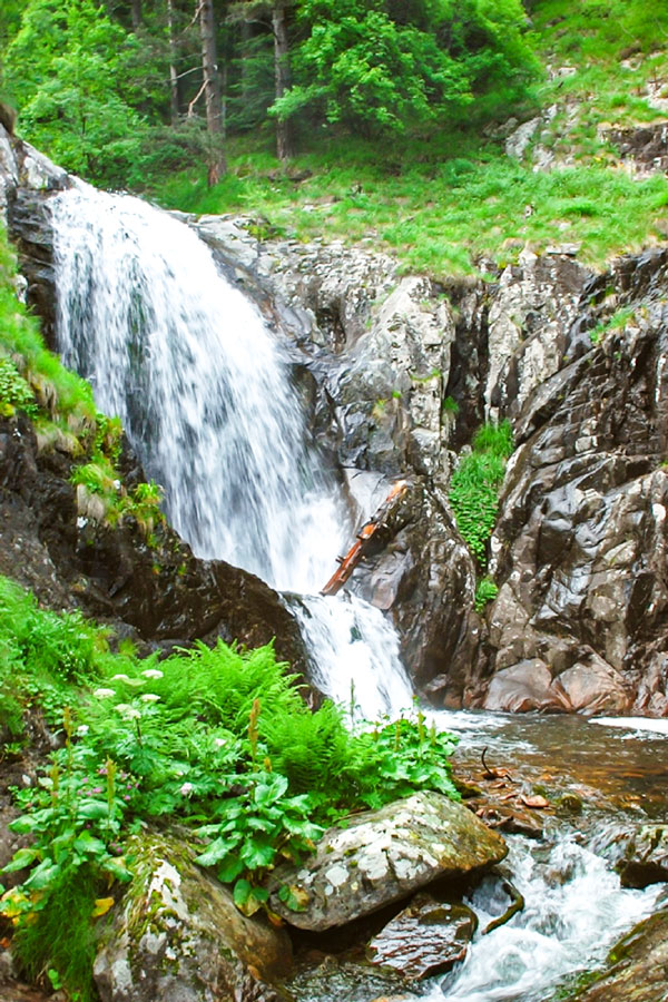 Rhodope waterfall on day 3 of Rhodope Cycling Tour