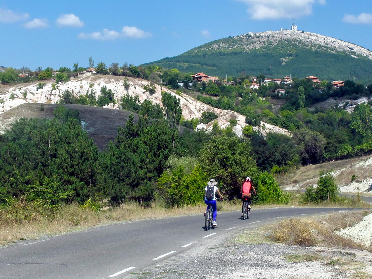 Cycling through the Vacha valley on day 6 of Rhodope Cycling Tour