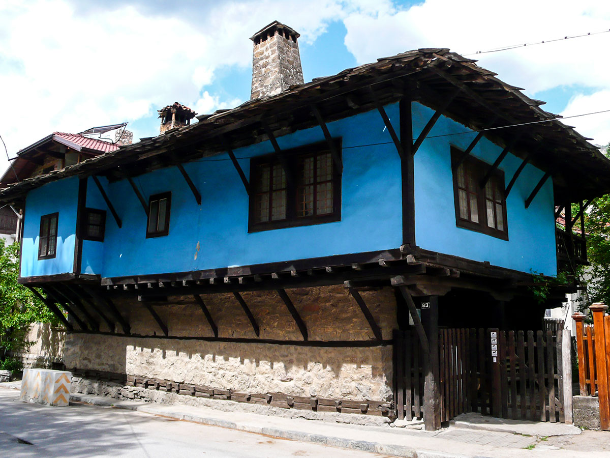 Revival style house in Devin on day 6 of Rhodope Cycling Tour