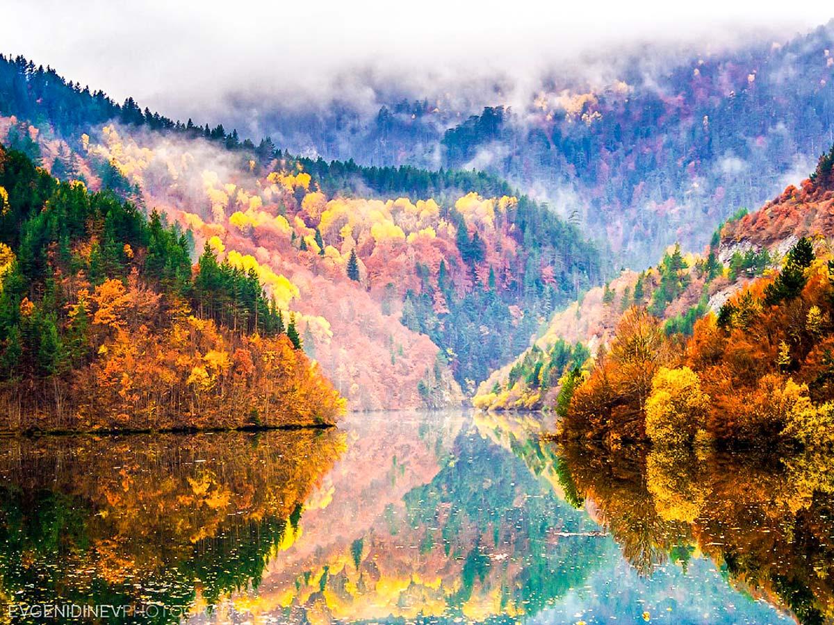 Beautiful scenery seen on day 3 of Rhodope Mountain Biking Tour in Bulgaria