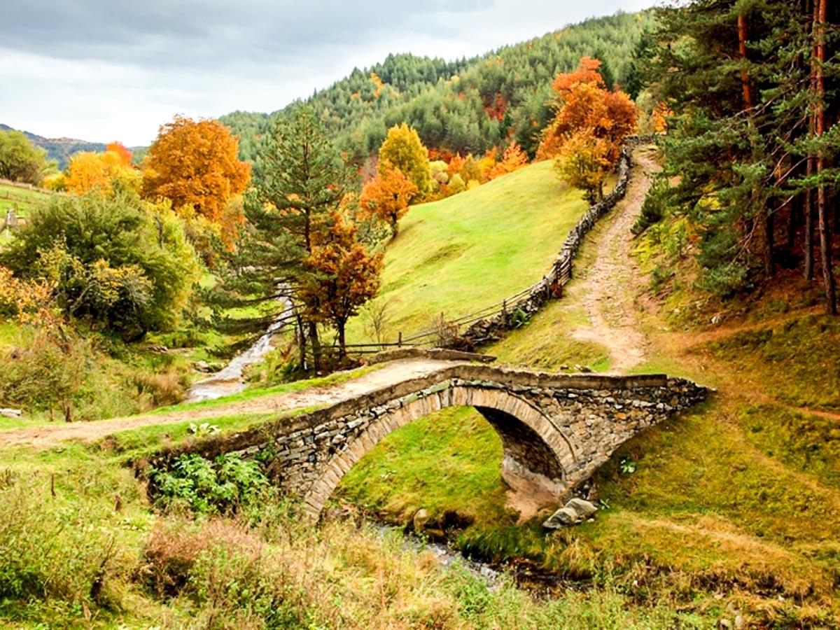 Typical Rhodope Mountains Bridge seen on day 5 of Rhodope Mountain Biking Tour in Bulgaria