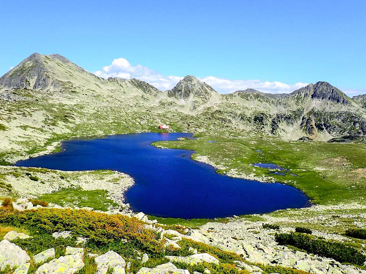 Pirin Tevno Ezero tour on day 7 of guided Rila and Pirin trekking tour in Bulgaria