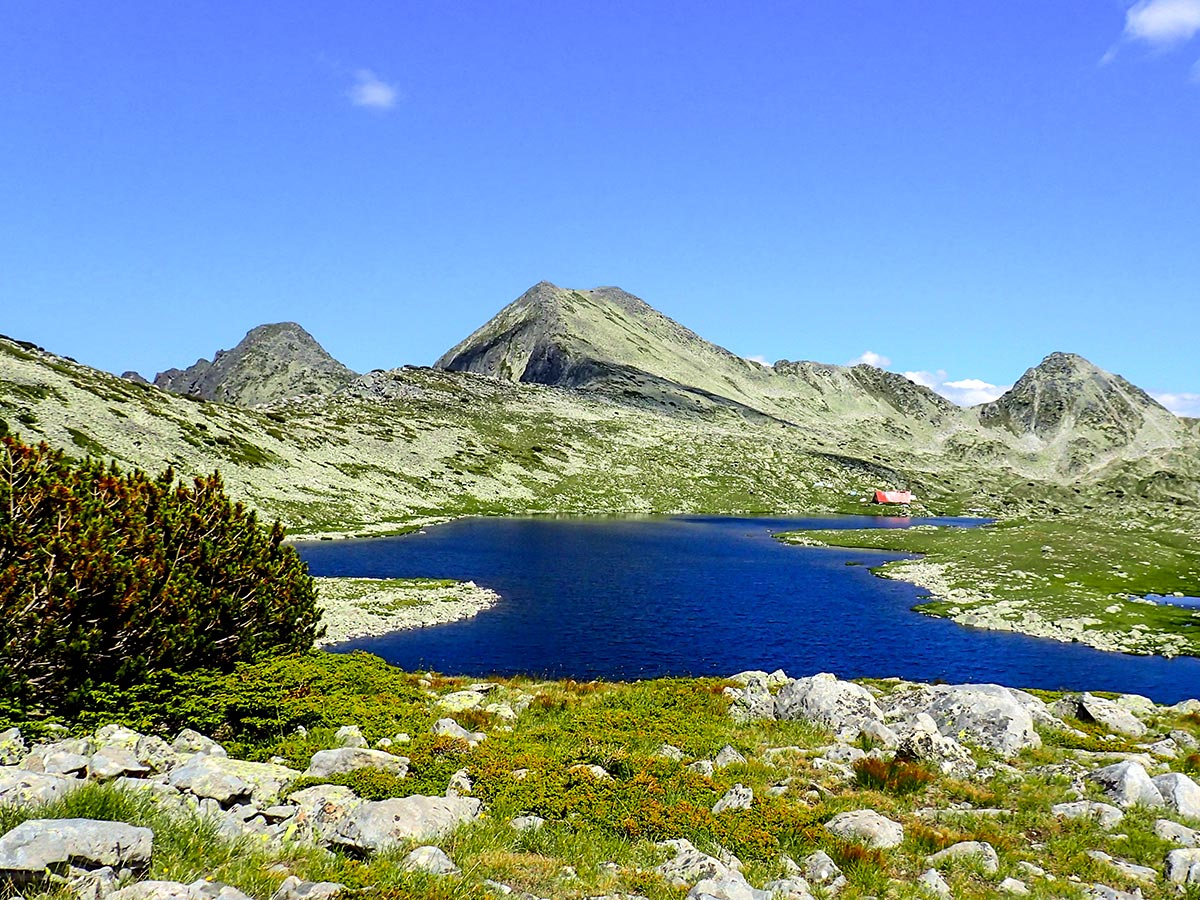 Tevno Ezero lake seen on day 7 of The Summits and Ridges trekking tour in Bulgaria with guide