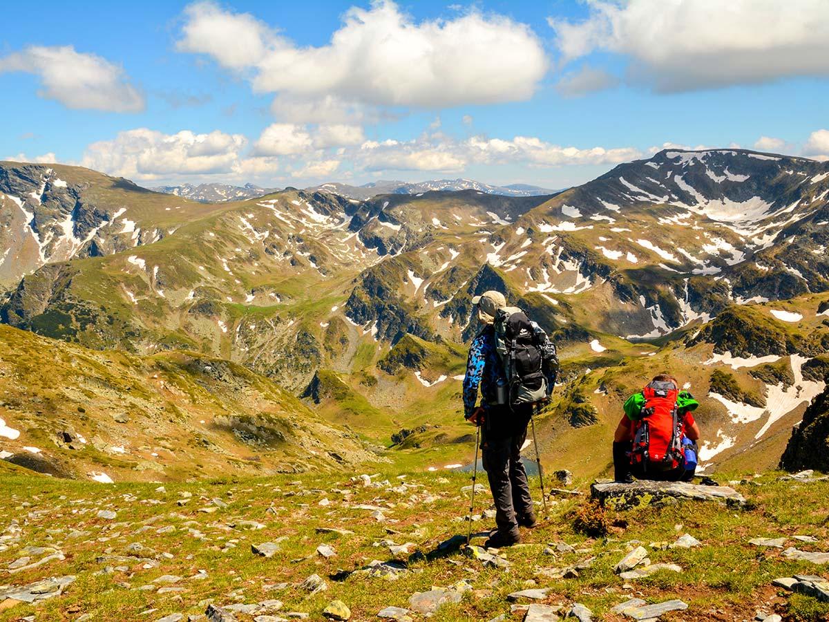 Razdela pass view on day 2 of Rila and Pirin Trek in Bulgaria