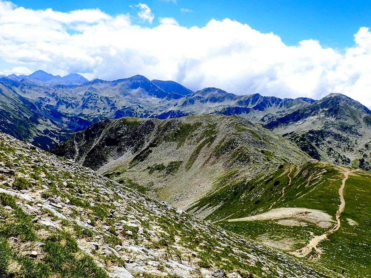 Trekking in Rila and Pirin rewards with beautiful views towards Pirin range on day 4