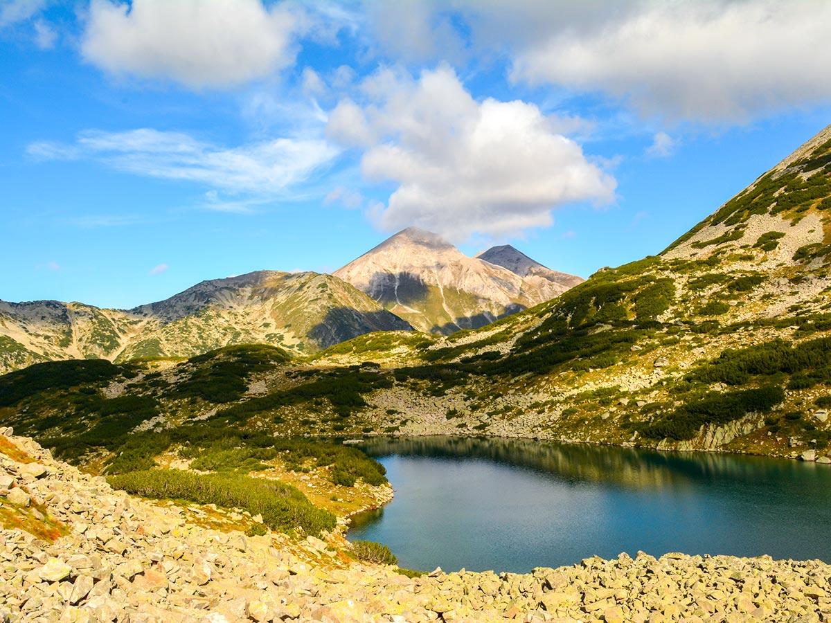 View across the Bunderitsa lakes in Pirin on The Summits and Ridges of Bulgaria trek