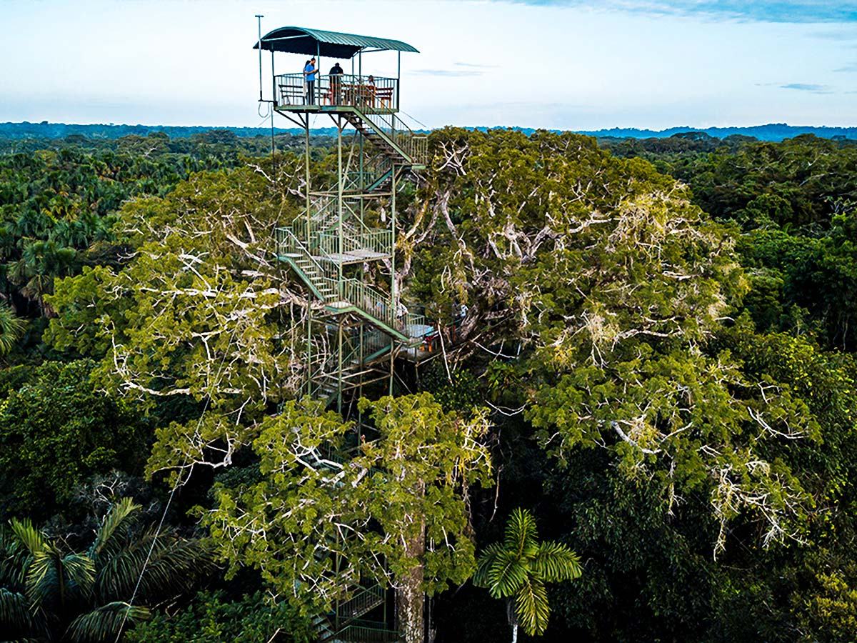 Watchtower above the Amazon on Anaknoda River Cruise in Ecuador