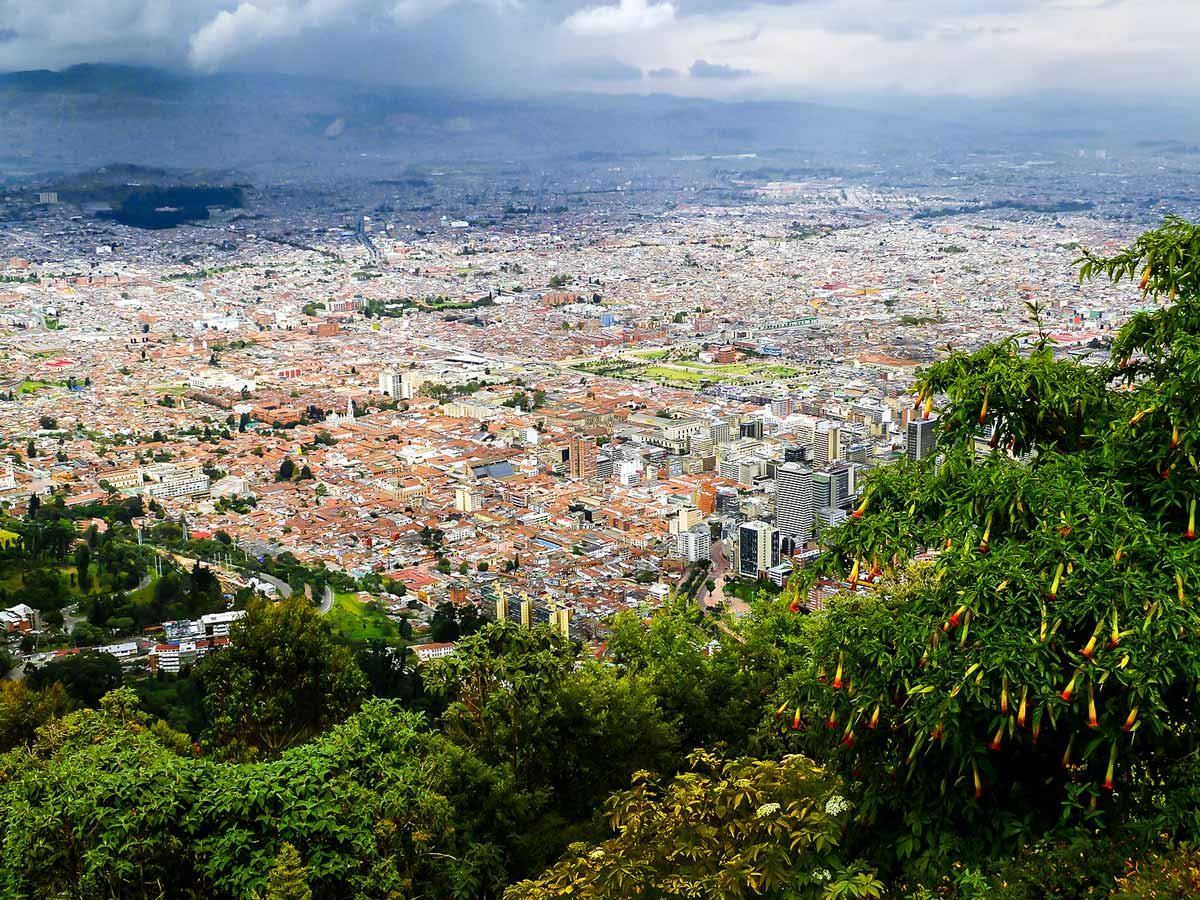 View of Bogota from the above on Colombia Off Road Tour