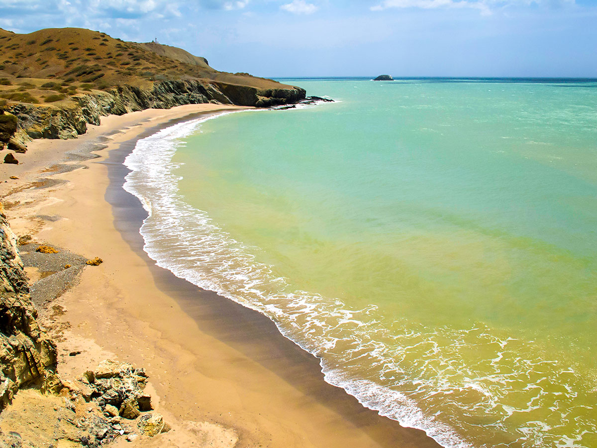 La Guajira Peninsula in Colombia is home for numerous beautiful beaches and can be seen on Exploring the Caribbean Tour