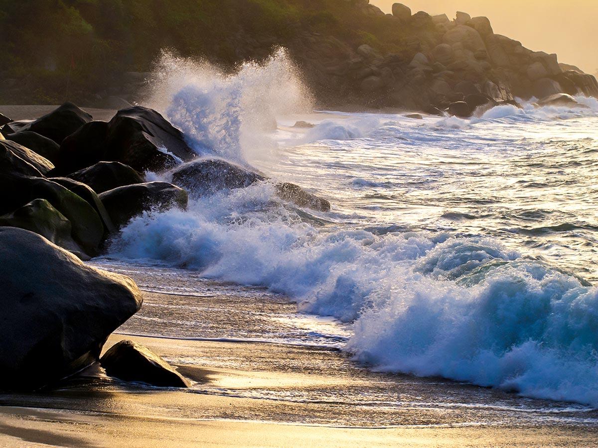 Beautiful Tairona Beach seen on Exploring the Caribbean Tour