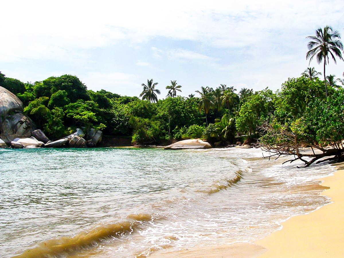 Tairona beach is one of the biggest attractions in Colombia and can be seen on Exploring the Caribbean Tour