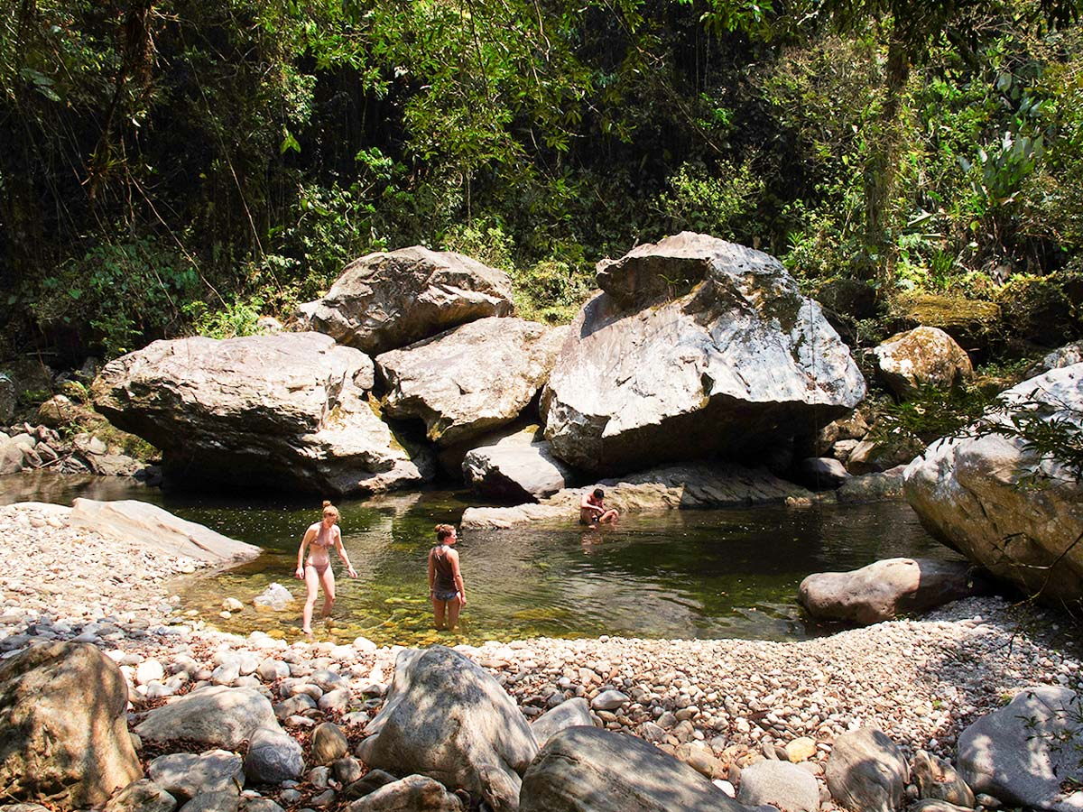 Swimming in the river on Exploring the Caribbean Tour in Colombia