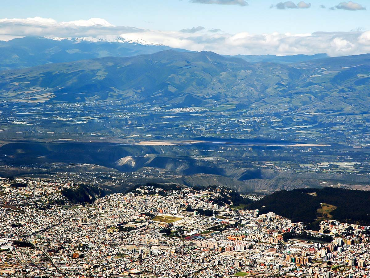 Looking at Quito on Peru Ecuador Galapagos Tour