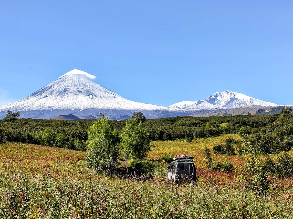 Two peaks in Kamchatka seen on Classic Kamchatka Trekking Tour