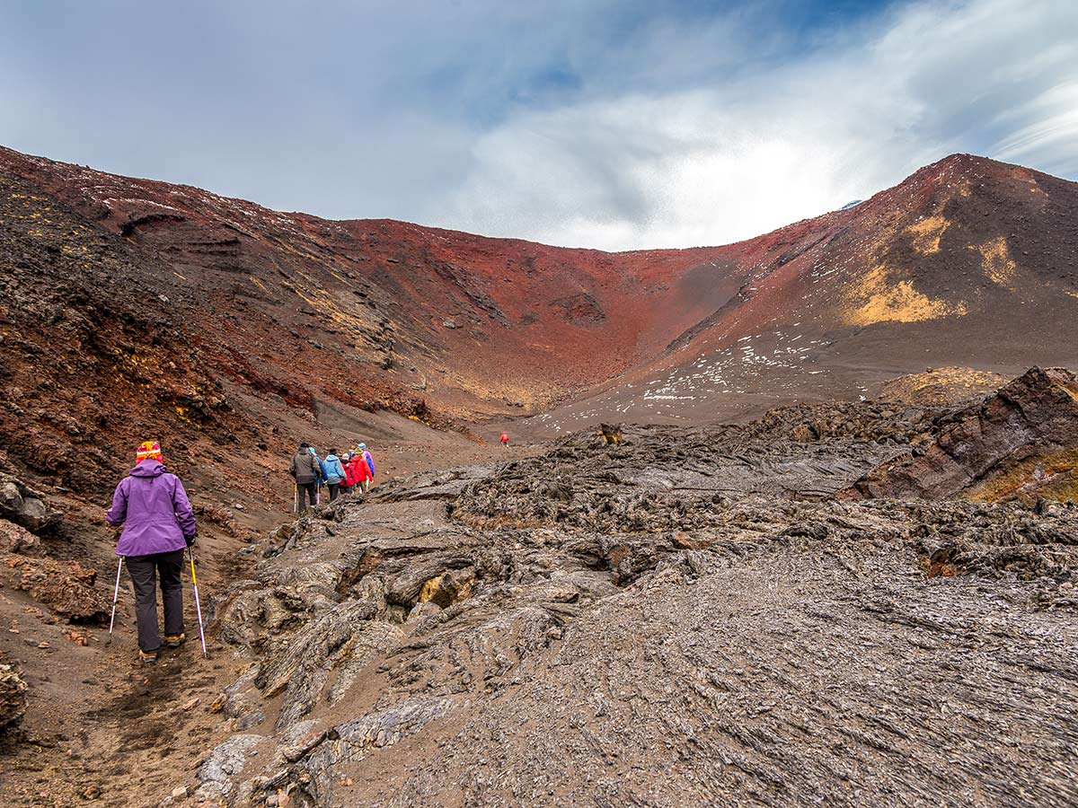 Hiking in Kamchatka rewards with stunning mountain views on Classic Kamchatka Trekking Tour