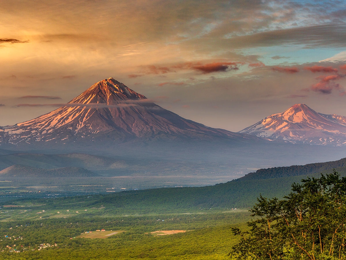 Amazing landscape of Kamchatka Peninsula in Russia